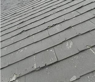 屋根のダメージ