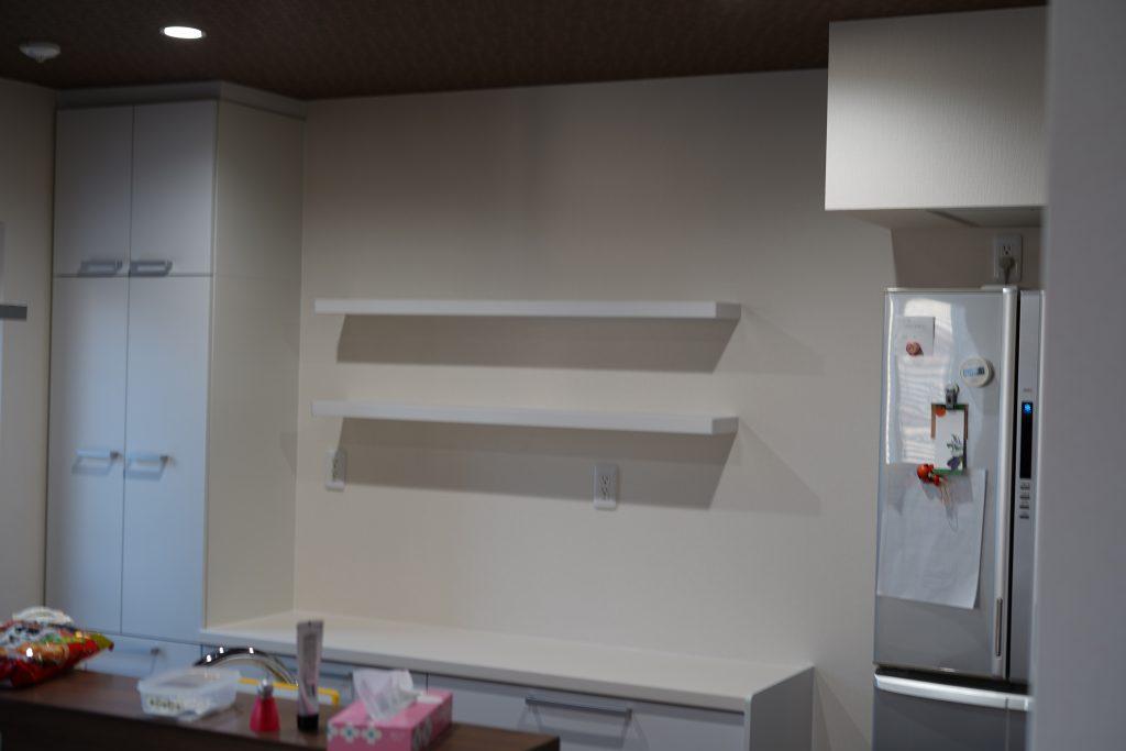 金沢市泉キッチン収納設置工事