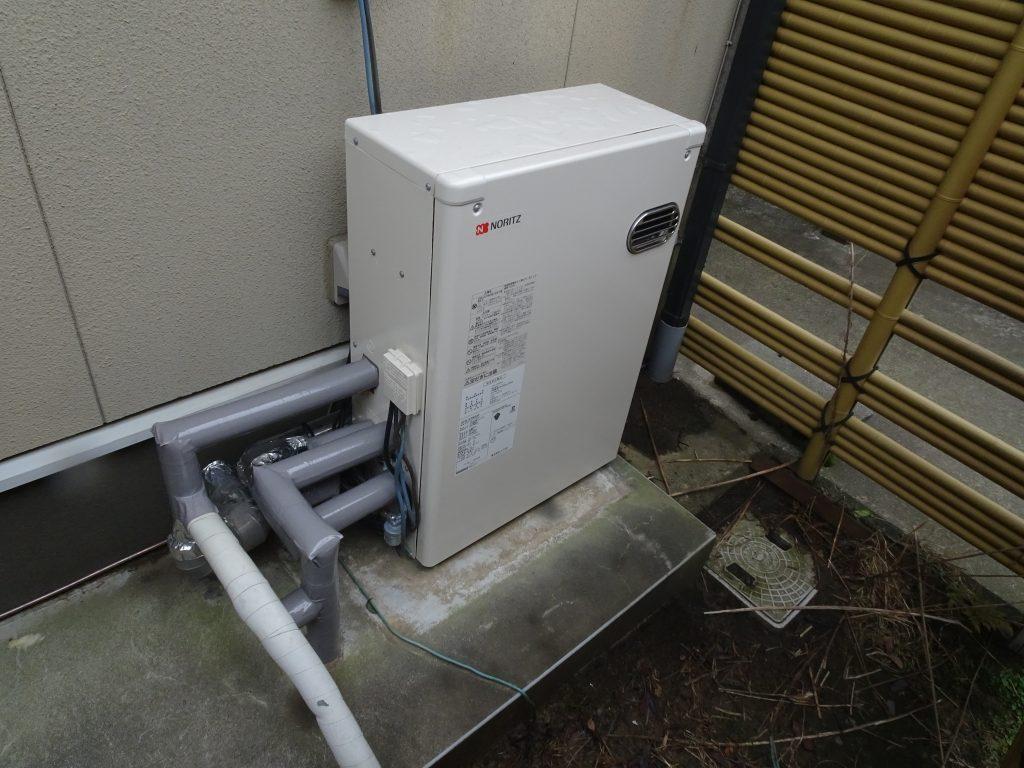 【石川県】能美市石油給湯器交換工事